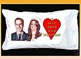 PRINCE WILLIAM AND KATE MIDDLETON ROYAL WEDDING PILLOWCASE