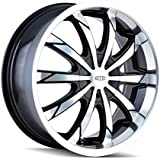"DIP Slack D66 Black Wheel with Machined Face and Lip (18x7.5"")"