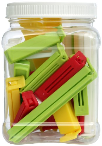 Gain Twixit! Linden Sweden Bag Clips, White/Yellow/Red/Lime, Set Of 2 Super 6 Large 8 Medium And 10 Small deal