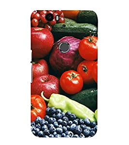 99Sublimation Fruits Every where 3D Hard Polycarbonate Back Case Cover for Huawei Nexus 6P :: Huawei Google
