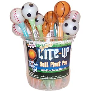 Sports Lite Up Novelty Ball Point Pens