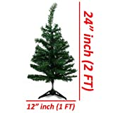 Wideskall-Tabletop-Christmas-Pine-Tree-2-Feet-Artificial-with-30-LED-Warm-White-Lights