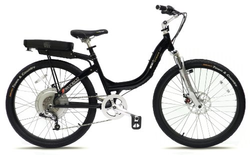 Prodeco V3 Stride 500 8 Speed Electric Bicycle, Black Pearl Metallic Gloss, 26-Inch/One Size