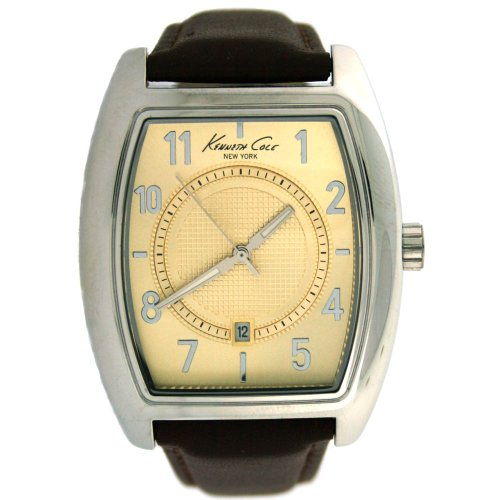 Kenneth Cole New York Leather Collection Gold Dial Men'S Watch #Kc1543Bn