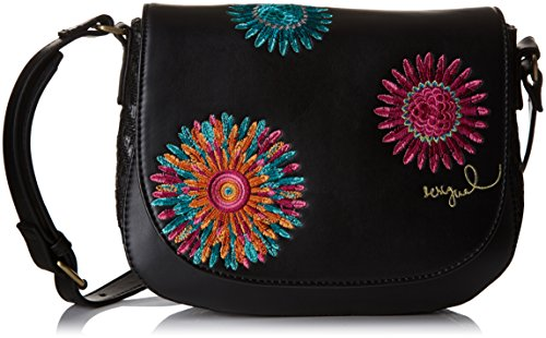 Desigual Far West, Borsa a tracolla donna Nero Noir (Negro) Taille Unique