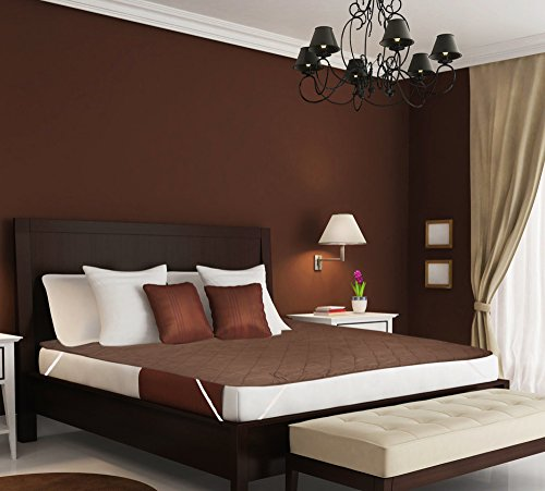 Desirica 100% Waterproof Double Bed Brown Color Mattress Protector