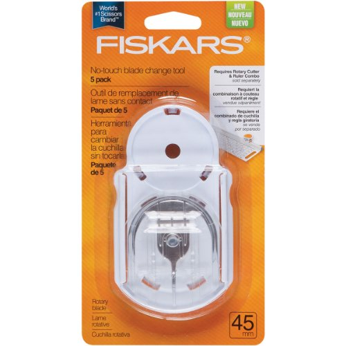 Fiskars 45mm No-touch Blade Change Replacement Tool Kit, 5 Pack (195120-1001) (Fiskars Replacement Cutting Blade compare prices)