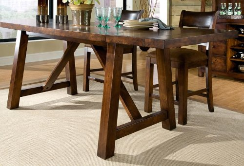Rectangular Pub Trestle Table by Legacy Classic - Aged Amber (9440-940)