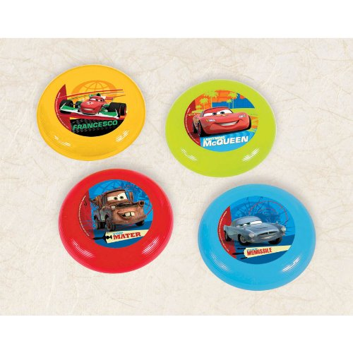 Amscan Cars 2 Flying Disc (1 Piece), Yellow/Red/Blue/Green - 1