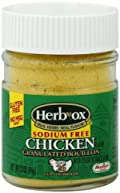 Herbox Granular Sodium Free Chicken Bouillon, 3.3-Ounce (Pack of 12)