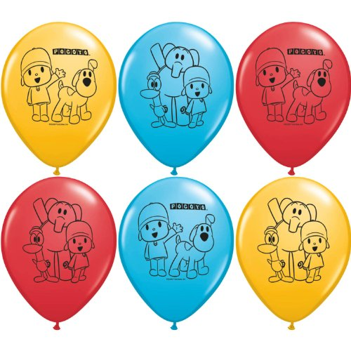 "Pocoyo Party Supplies 12"" Latex Balloons - 6 Each - 1"