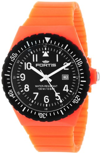 Fortis Colors C 704.20 Orange Silicone Pop-Out Watch