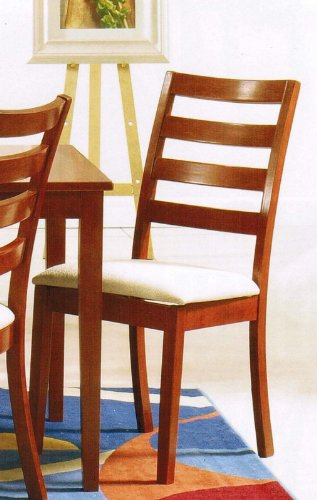 Set of 2 Dining Chairs in Honey Oak Finish
