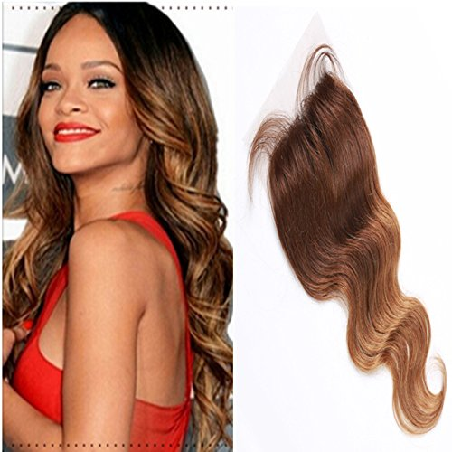 E-forest-hair-Virgin-100-Brazilian-Remy-Human-Hair-Free-Part-Body-Wave-44-Top-Lace-Closure-Two-Tone-Ombre-10-inch130-Density-Bleached-Knots-Baby-Hair-EJ-04