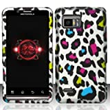 Motorola Droid Bionic xt875 Accessory - Rainbow Leopard Spot Skin Design Protective Hard Case Cover for Verizon