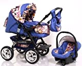 ADBOR Combo Pram Baby Lux + Car Seat No.36 purple / flower