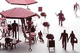 テラダモケイ 1/100建築模型用添景セット オープンカフェ編(ブラック)