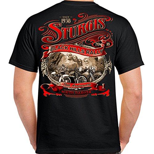 Biker Life USA 2016 Sturgis Main Street Scene T-Shirt