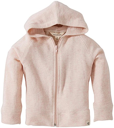 Burt'S Bees Baby Baby Girls' Loose Terry Zip Hoodie (Baby) - Blossom Heather - 24 Months front-916332