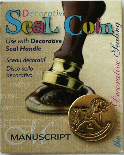 Manuscript Pen 727RCK Decorative Seal Coin, 0.75-Inch, Rocking Horse
