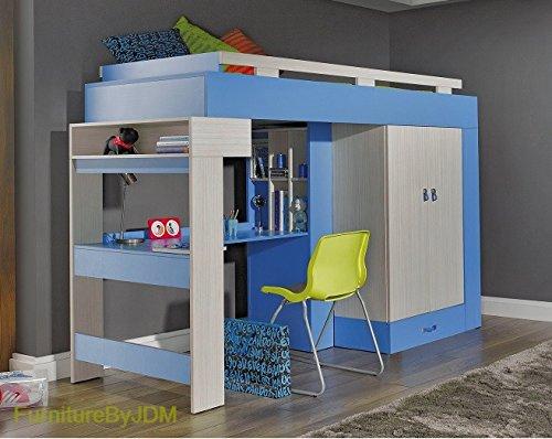 hochbett matratze nicht im lieferumfang enthalten komi. Black Bedroom Furniture Sets. Home Design Ideas