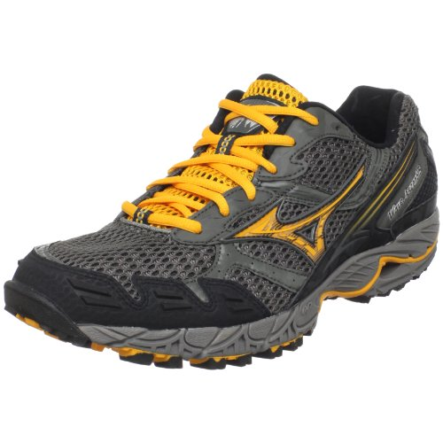 Mizuno Mens Wave Ascend 5 Trail Running ShoeCharcoal GreyRadiant Yellow Anthracite