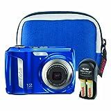 Kodak EasyShare C143 12 MP Digital Camera with 3x Optical Zoom (Blue Bundle ....