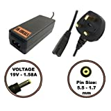 UK-EDEALS® Top Quality Charger 19V AC ADAPTER CHARGER FOR ACER ASPIRE ONE D257 722 N17908 UK + LEAD POWER CORD Ordinateur portable Adaptateurs Chargeur Pour with LEAD POWER CORD CABLE