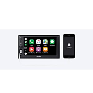 Sony XAVAX1000 6.2 (15.7 cm) Apple CarPlay Media Receiver with Bluetooth (Tamaño: 6.2 inches)