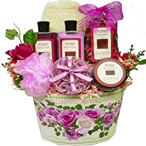 Art of Appreciation Gift Baskets Mum's English Rose Garden Spa Bath and Body Set