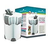 Aquarium External Fish Tank Filter 1400L/H + 9W UV Light Free Filter Media All Pond Solutions 1400EF+by All Pond Solutions