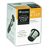 My K-Cup Reusable coffee filter - Use your own gourmet coffee in a reusable filter.  Exclusive to the Keurig Home Brewing System.