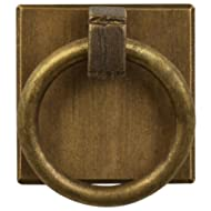 Brass Ring Plate Pulls 1.25'' - Set of 2