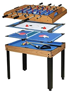 table 4 jeux en 1 billard babyfoot hockey de table et ping pong jeux et jouets. Black Bedroom Furniture Sets. Home Design Ideas