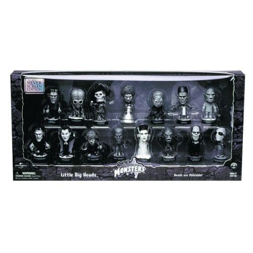 Buy Low Price Sideshow Universal Studios Monsters Little Big Heads Silver Screen Edition Figure (B0010B6T58)