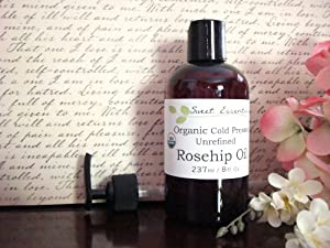100% Pure USDA Certified Organic Unrefined Rosehip Oil -8oz- Imported