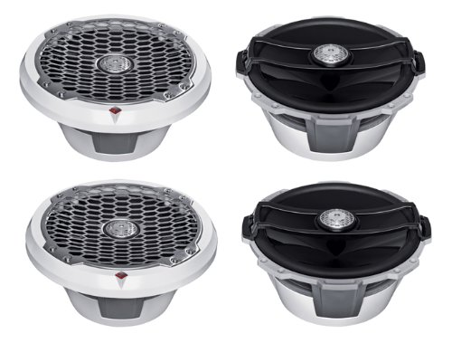 "4) Rockford Fosgate M282 8"" 200W White 2-Way Full-Range Marine/Boat Speakers"