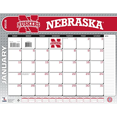 Turner Perfect Timing 2015 Nebraska Cornhuskers Desk Calendar, 22 X 17 Inches (8061395)