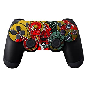 Protective Vinyl Skin Decal Cover for Sony PlayStation DualShock 4 Controller Sticker Skins Dragon Breath