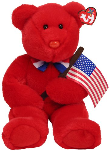 Ty Thomas - Red Bear with Flag - 1