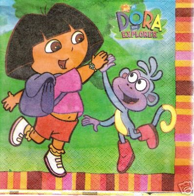 DORA PARTY NAPKINS LUNCH SIZE PKG OF 16 - 1