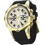 Watchstar German Dornier DO-17 33 Jewels Automatic Chronograph Gold/Grey
