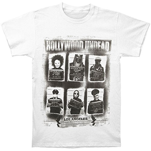 Kumiu Hollywood Undead Men's Mugshots Slim Fit T-shirt White