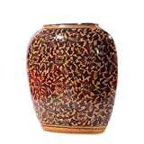 Inhomez Brown Hand Painted Ceramic Vase
