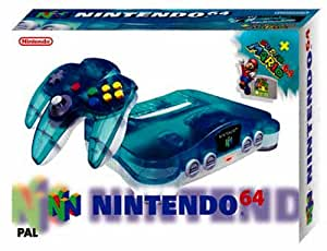 Nintendo 64 - Gerät Clear-Blue + Super Mario