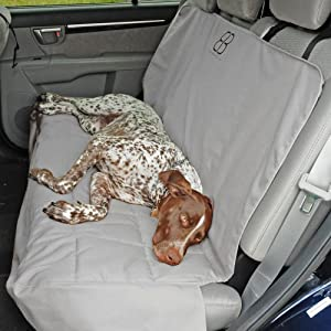 Back Seat Car Covers For Dogs >> Amazon.com : Petego Dog Car Seat Protector, Rear, Gray, X ...
