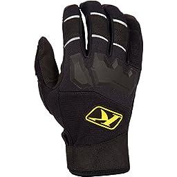 Klim Dakar Men\'s Ski Snowmobile Gloves - Black / Large