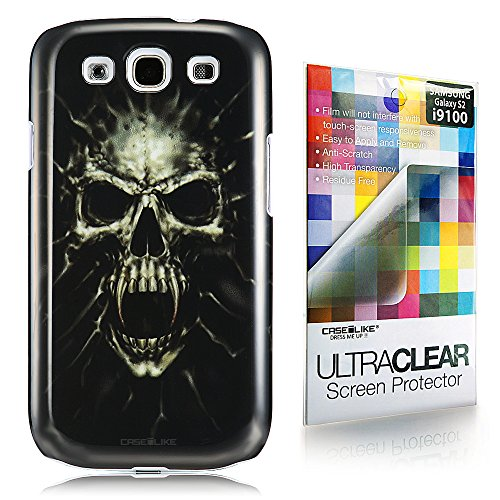 CaseiLike ® Vampire Skull, Snap-on duro indietro cover per Samsung Galaxy S3 S 3 S III SIII i9300 con Screen Protector
