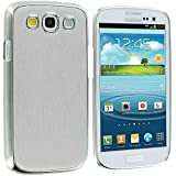 niceEshop(TM) Silver Brushed Aluminium Style Laser Hard Case Cover for Samsung Galaxy S3 SIII i9300 +Screen Protector