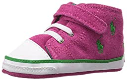 Ralph Lauren Layette Bal Harbour Cap Toe Repeat High Top (Infant/Toddler), College Pink Suede, 4 M US Toddler